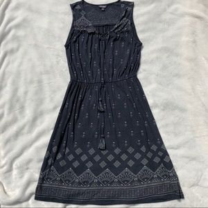 Lucky Brand Knit Dress Size S Navy and Gray